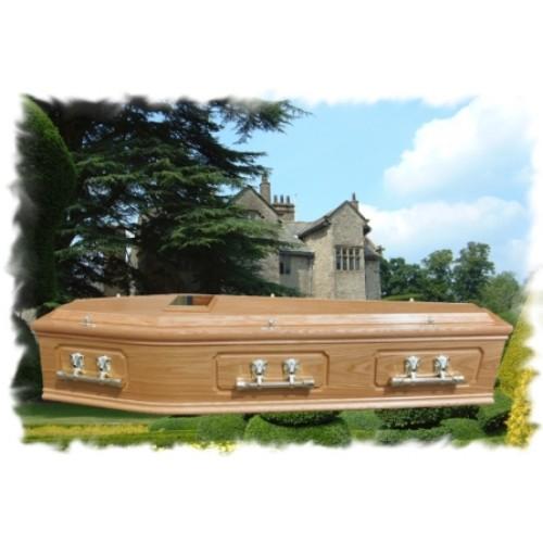 Oak Raised Lid & Panel Coffin - Premium Hand-made Coffins